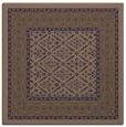 rug #1306739 | square blue-violet damask rug