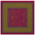 rug #1306755 | square blue-green borders rug