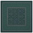 rug #1306767 | square blue-green damask rug