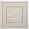 rug #1306799 | square mid-brown borders rug