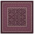 rug #1306803 | square pink damask rug