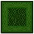 rug #1306843 | square green damask rug