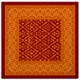 rug #1306847 | square red-orange traditional rug