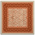 rug #1306855 | square beige borders rug