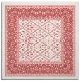 rug #1306875 | square pink damask rug