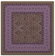 rug #1306887 | square purple damask rug