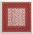 rug #1306903 | square red borders rug