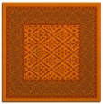rug #1306911 | square red-orange damask rug