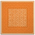 rug #1306915 | square red-orange damask rug