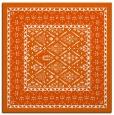 rug #1306923 | square red-orange borders rug