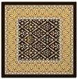 rug #1306939 | square brown damask rug