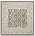 rug #1306951 | square white damask rug