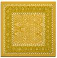 rug #1306955   square yellow traditional rug