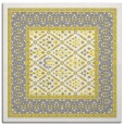 rug #1306963 | square yellow damask rug