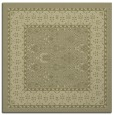 rug #1306979 | square light-green damask rug