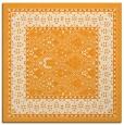rug #1306995 | square light-orange damask rug