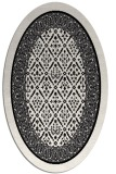 rug #1307007 | oval black traditional rug