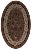 rug #1307019 | oval black borders rug