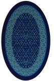 rug #1307035 | oval blue borders rug