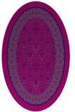 rug #1307039 | oval blue damask rug