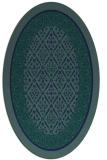 rug #1307043 | oval blue borders rug