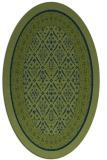rug #1307047 | oval green borders rug