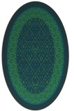 rug #1307067 | oval blue borders rug