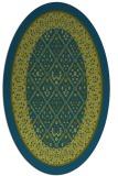 rug #1307080 | oval borders rug