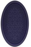 rug #1307087   oval blue-violet traditional rug