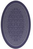rug #1307091 | oval blue-violet borders rug