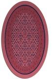 rug #1307095   oval pink damask rug