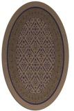 rug #1307107 | oval beige damask rug