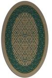rug #1307115   oval brown damask rug