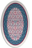 rug #1307119 | oval red traditional rug