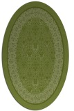 rug #1307131 | oval green traditional rug