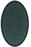 rug #1307135 | oval green traditional rug