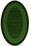 rug #1307147 | oval green borders rug