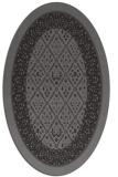 rug #1307159   oval brown damask rug