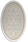 rug #1307167 | oval white borders rug