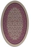 rug #1307172 | oval damask rug