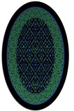 rug #1307207 | oval black traditional rug