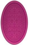 rug #1307231   oval pink damask rug