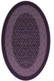 rug #1307256 | oval damask rug