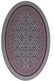 rug #1307259 | oval purple borders rug