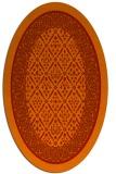 rug #1307267 | oval orange borders rug