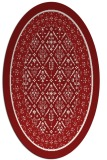rug #1307274 | oval borders rug