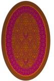 rug #1307288 | oval damask rug