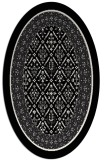 rug #1307295 | oval black traditional rug