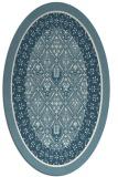 rug #1307315 | oval white traditional rug