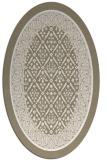 rug #1307319 | oval beige damask rug
